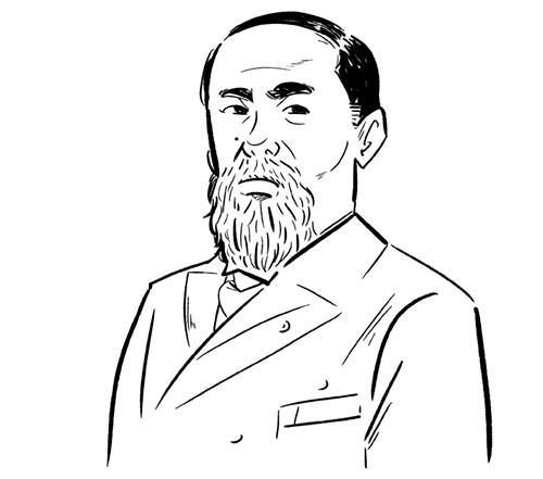 伊藤博文の似顔絵イラスト