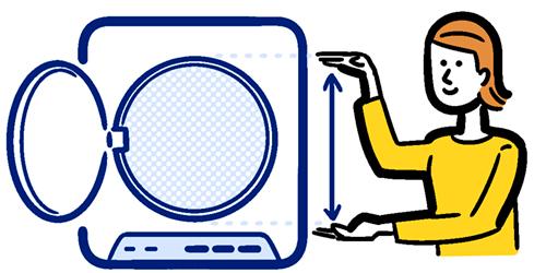 乾燥機のと女性のイラスト