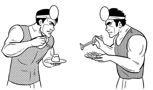 劇画タッチの男性のイラスト
