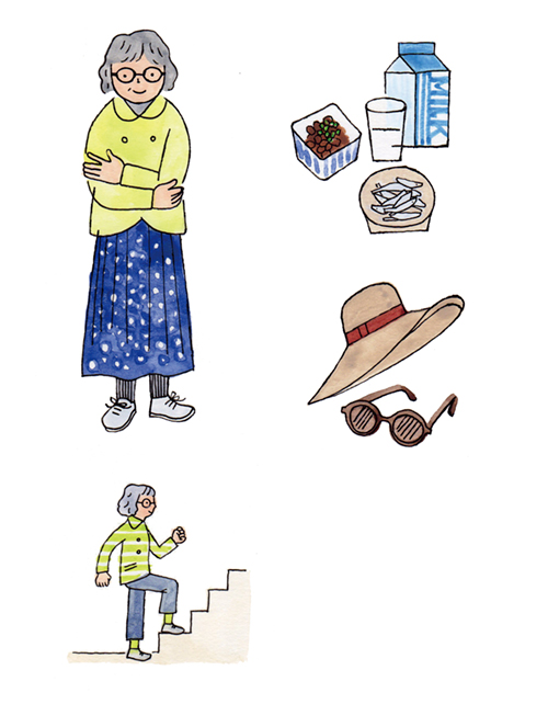 品のある女性シニアのイラスト
