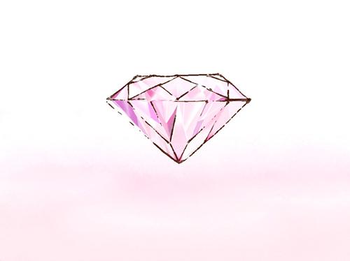 ピンクダイアモンドのイラスト
