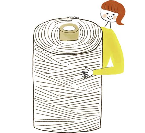 糸と女性のイラスト