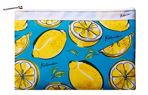 レモンのイラストを使ったポーチ