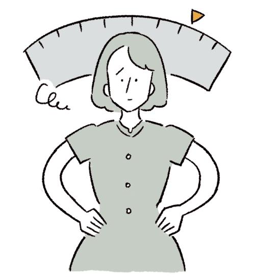 体重を気にする女性のイラスト