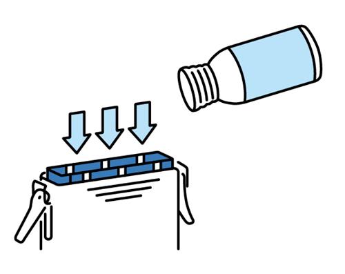 水発電機の使い方イラスト