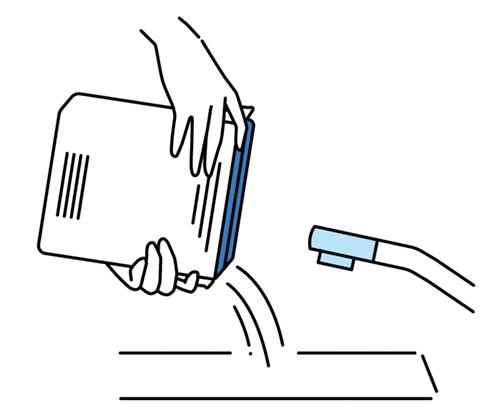 水発電機の説明図イラスト