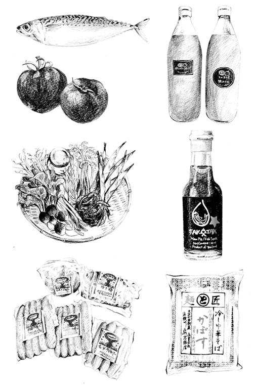 線画の商品・食材イラスト