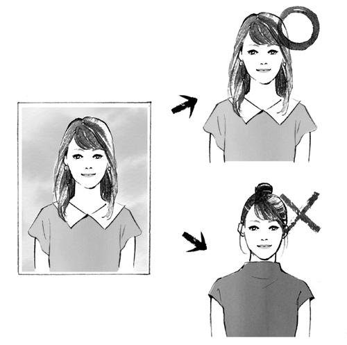 女性の容姿のイラスト