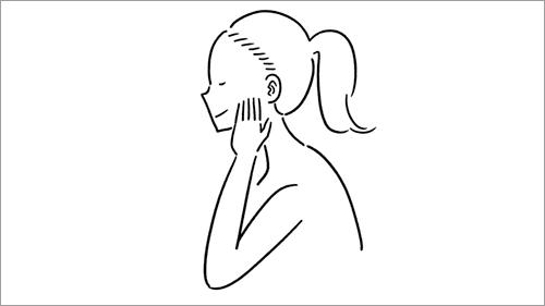 女性の線画イラスト