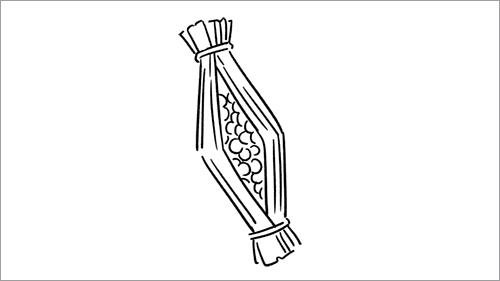 納豆の線画イラスト