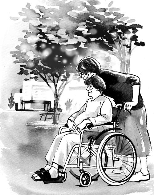 車椅子 人物イラスト