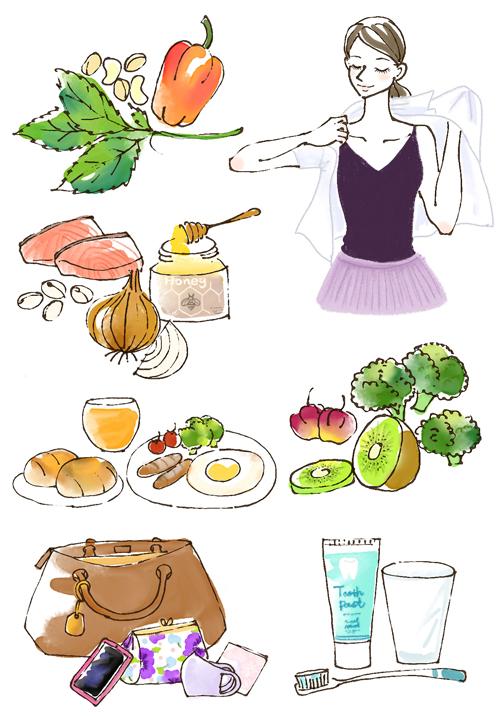 女性 野菜 イラスト