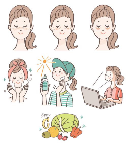 女性 野菜イラスト